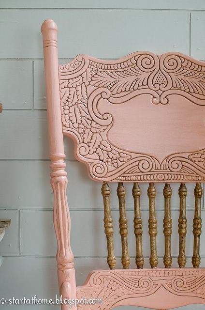 Start at Home: Coral Pressed Back Chair