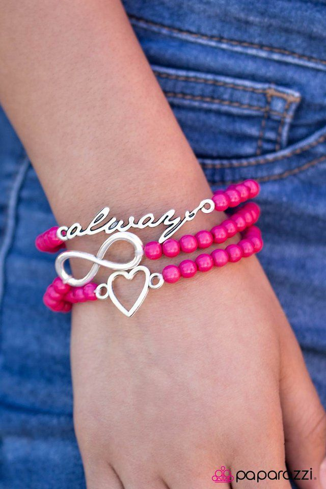 Forever In Fashion stretchy set of bracelets. Just $5! This is so cute! fb.com/marcipaparazzi #paparazzijewelry #heartjewelry #infinityjewelry #wahm #directsales