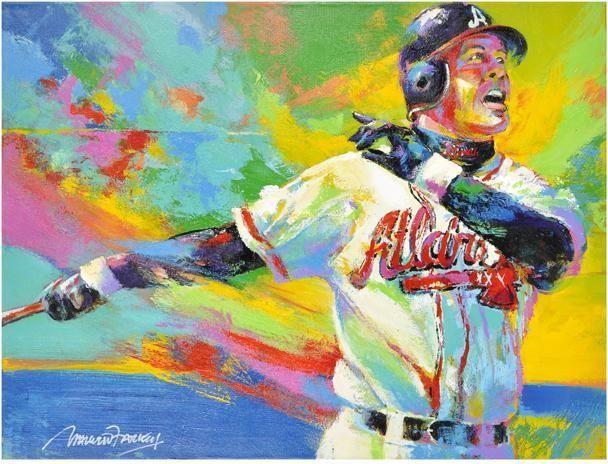 Chipper Jones MLB Braves Malcolm Farley Original Artwork Fanatics Authentic COA #AtlantaBraves #OriginalArtPrint