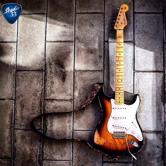 60th Anniversary 1954 Custom Shop Stratocaster from @arkay_oldman1959 #stratocaster #electricguitar Learn to play guitar online at www.Studio33GuitarLessons. com