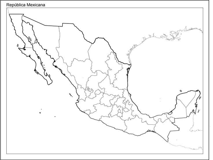 Mapa de la rep blica mexicana con divisi n pol tica y sin - Republica de las ideas ...