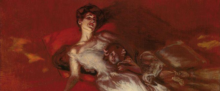Albert von Keller (1844-1920), Gisela von Wehner et sa Fille Ilka - 1906