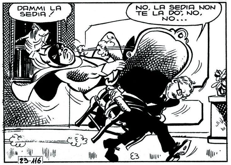 ITALIAN COMICS - Oggi come ieri: la rincorsa alla poltrona – uno sport nazionale…vedi presidente Leone e Amintore Fanfani 5:
