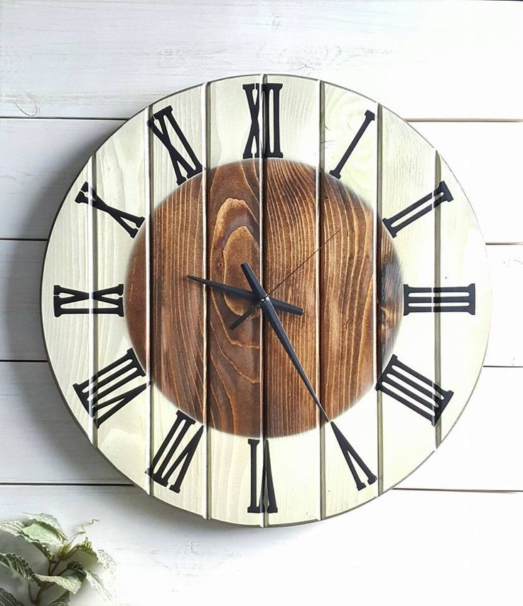 """Handmade Wall Clock, Large Wooden Clock, Unique Clock, Rustic Wall Clock, Oversized Wall Clock, Wall Cock, Wood Clock, 20"""" by UrbanAlloy on Etsy"""