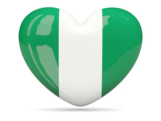 Heart icon. Download flag icon of Nigeria at PNG format