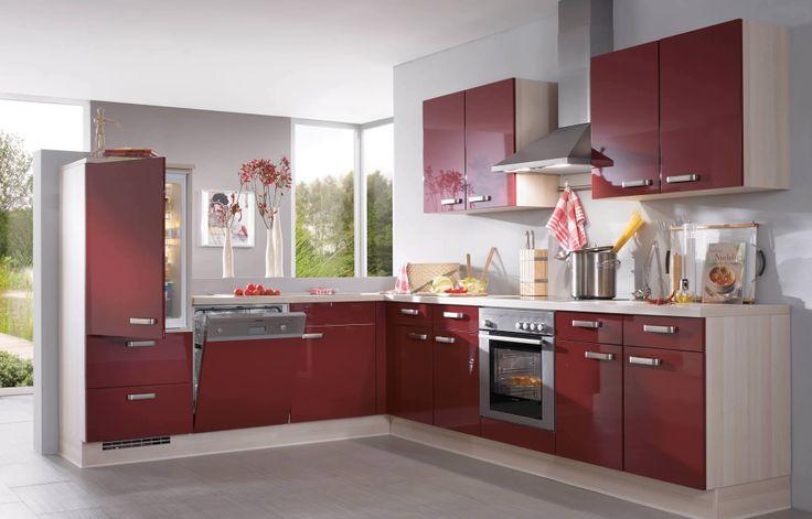 L-Küche rot