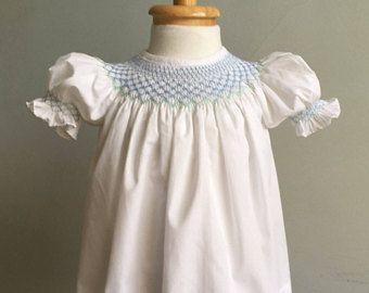 Vintage Baby Dress, Hand Smocked Baby Dress