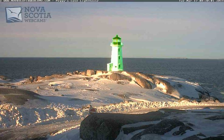 We think a leprechaun got at the lighthouse this morning...  Happy Saint Patrick's Day from Nova Scotia Webcams!  http://www.novascotiawebcams.com/en/webcams/peggys-cove-lighthouse/  #PeggysCove #Lighthouse #NovaScotia #Canada #EastCoast #Atlantic #StPatricksDay #SaintPatricksDay #NSWebcams
