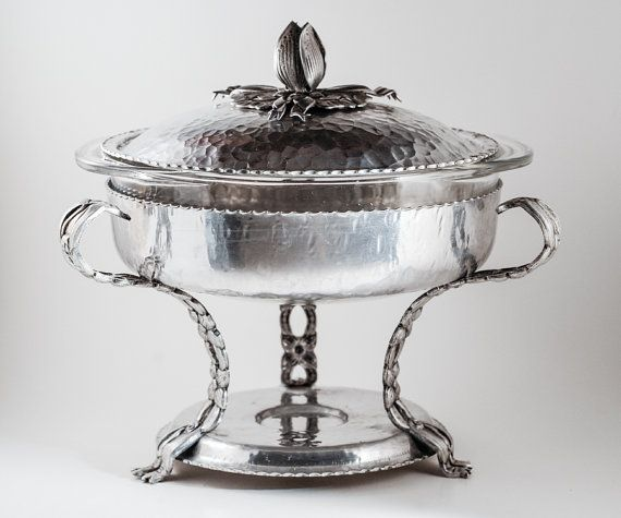 Rodney Kent Hand Forged Aluminum Chafing Dish by AnneTweekes