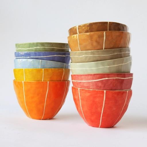 Nube Green small ceramic bowls