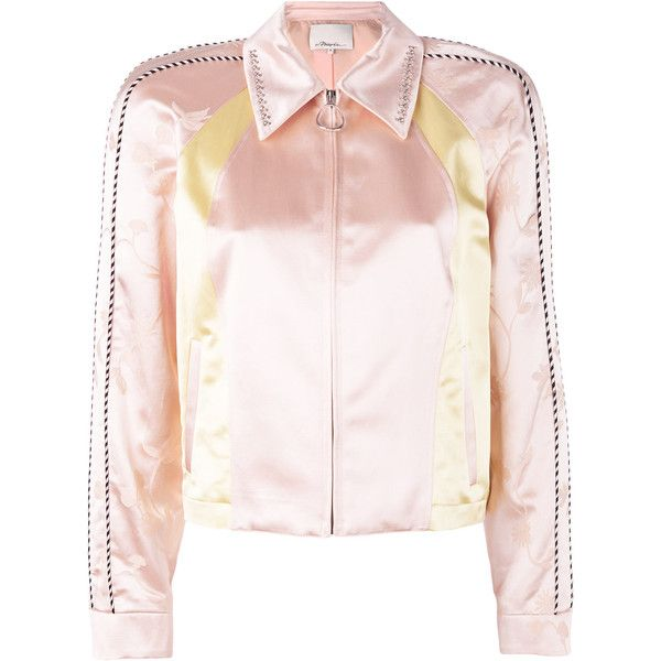 3.1 Phillip Lim Western beaded-collar jacket (£565) ❤ liked on Polyvore featuring outerwear, jackets, 3.1 phillip lim jacket, collar jacket, beaded jacket, western jackets and zip front jacket