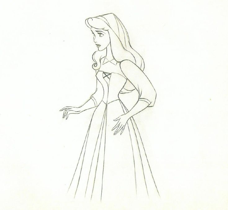 Briar Rose - original pencil sketch. a combo of two of my favorite things