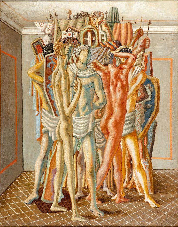 Gladiadores com seus Troféus - Giorgio de Chirico - c. 1927