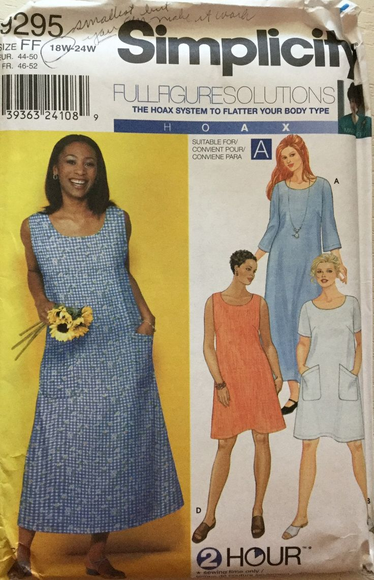 35 best creative concepts images on pinterest creative factory simplicity sewing pattern 9295 womens plus sizes 2 hour shift a line dress jeuxipadfo Gallery