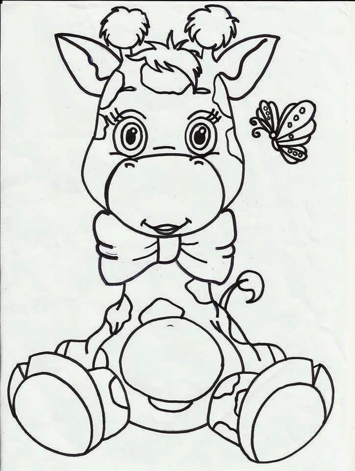 Girafinhas Padroes Para Pintura Desenhos Bonitos Producao