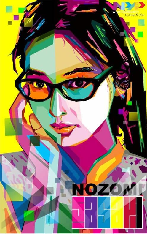 Nozomi Sasaki WPAP version #WPAP #Nozomi #Sasaki #design #Japan #Artists