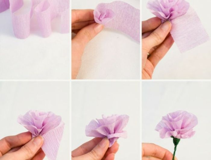comment cr er une fleur en papier cr pon deco fleur. Black Bedroom Furniture Sets. Home Design Ideas