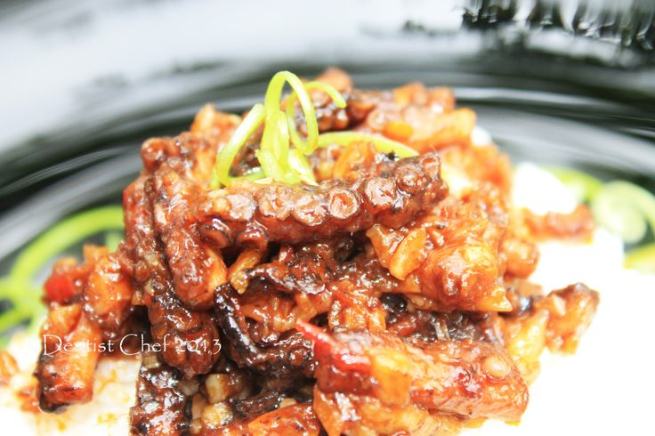 Octopus Recipe: Spicy Octopus with Chilli and Garlic Recipe | DENTIST CHEF