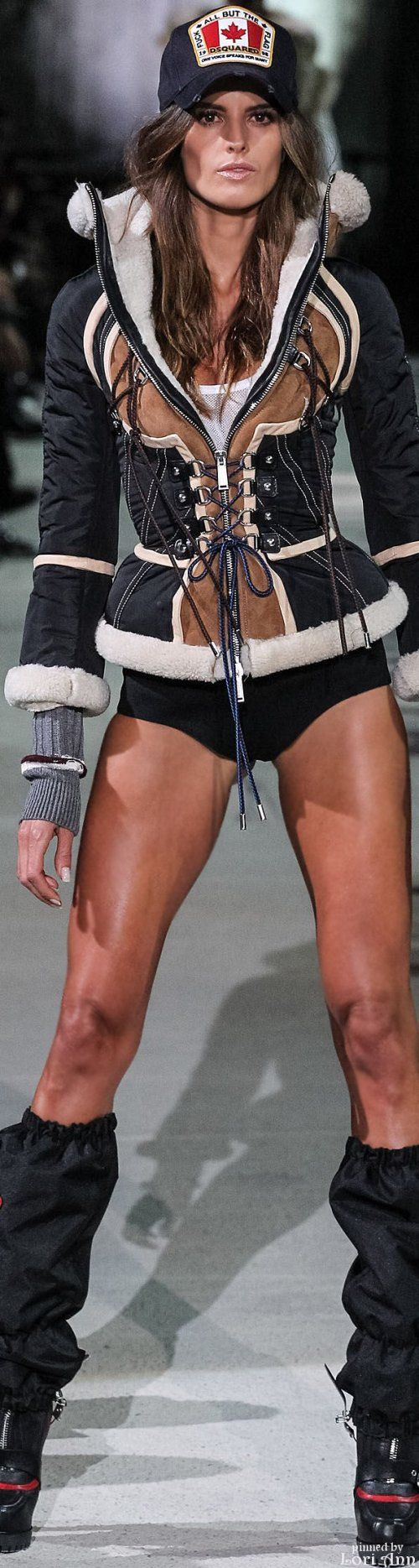 Dsquared² Fall 2015 RTW - her legs are gorgeous and toned.
