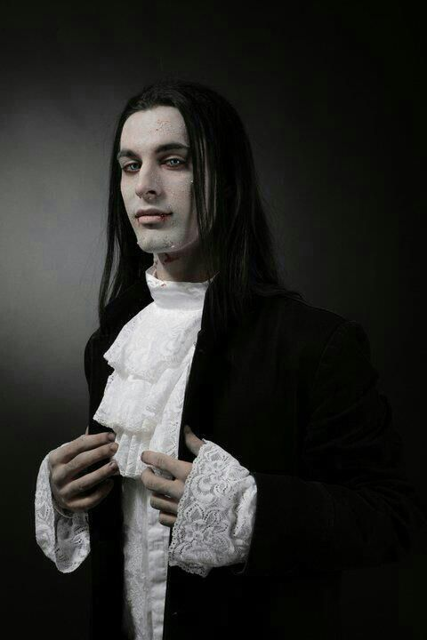 Gothic men with long h...