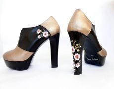 "<3 Hand painted shoes ""cherry flower"""