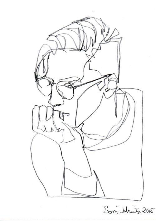 "borisschmitz:  ""Gaze 222"", one-continuous-line-drawing by Boris Schmitz, 2015 » click here for my portfolio «"