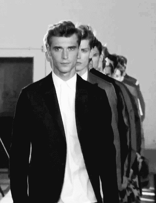 gif - Clement Chabernaud @Valentino SS 2013. Walking the walk. He has great eyes. Like his friend Patrick Petitjean.