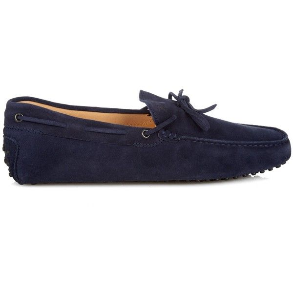 Tod's Gommino suede driving shoes (22.490 RUB) ❤ liked on Polyvore featuring men's fashion, men's shoes, men's loafers, navy, shoes, navy blue mens shoes, mens navy suede shoes, mens driving shoes, mens driver shoes and tods mens shoes