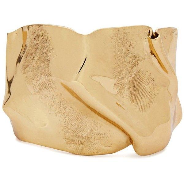 Cornelia Webb Folded 18kt Gold-plated Cuff (4,930 MXN) ❤ liked on Polyvore featuring jewelry, bracelets, gold plated bangles, cuff bangle, gold plated jewelry, gold plated jewellery and cornelia webb