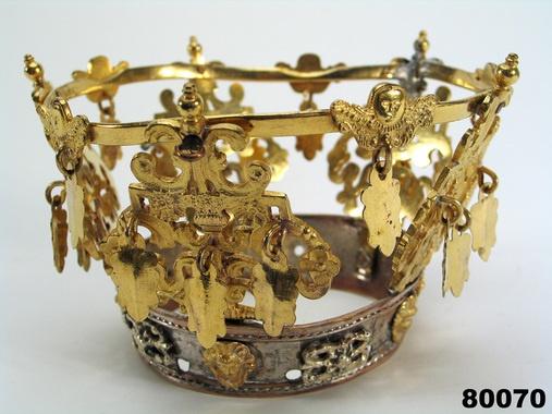 Saami Bridal Crown - Digitalt Museum - Brudkrona - Användning:      Brukningsort: Sverige (SE), Lappland      Accession:      1895 - Nordiska museet