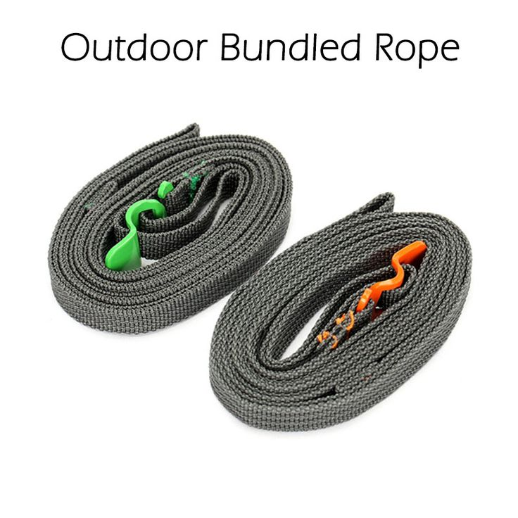 Outdoor Travel Equipment Tied  Bundle Rope Ultralight Multi-Function  Luggage Strap Stainless Steel Belt Hook For Camping Hiking