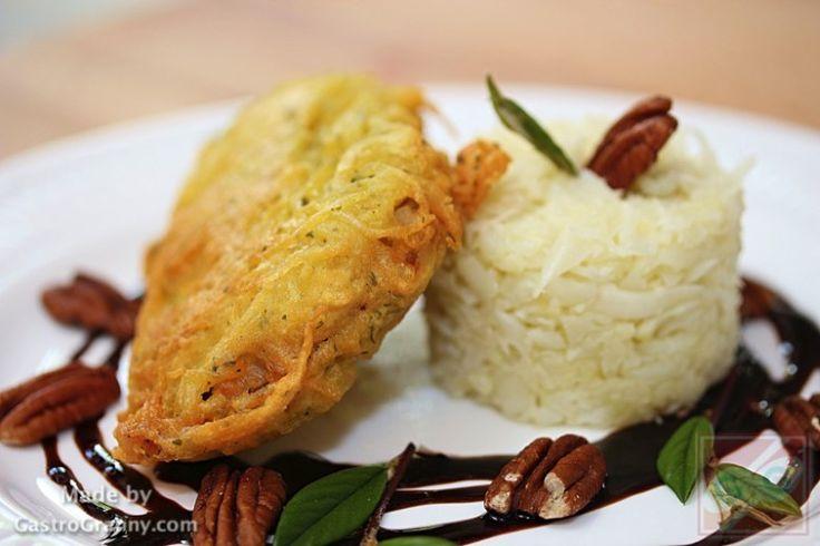 Tócsniba bújtatott karaj karfiol rizzsel -recept videóval- GastroGranny receptjei. Plusz videó receptek is!