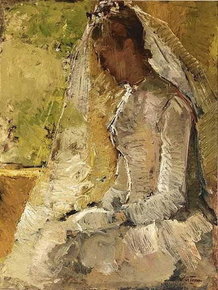 Jan Toorop - THE BRIDE; Medium: oil on canvas