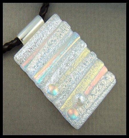 Original dichroic glass pendant..Pick Up Stix..SRA | silvermoonlyn - Jewelry on ArtFire