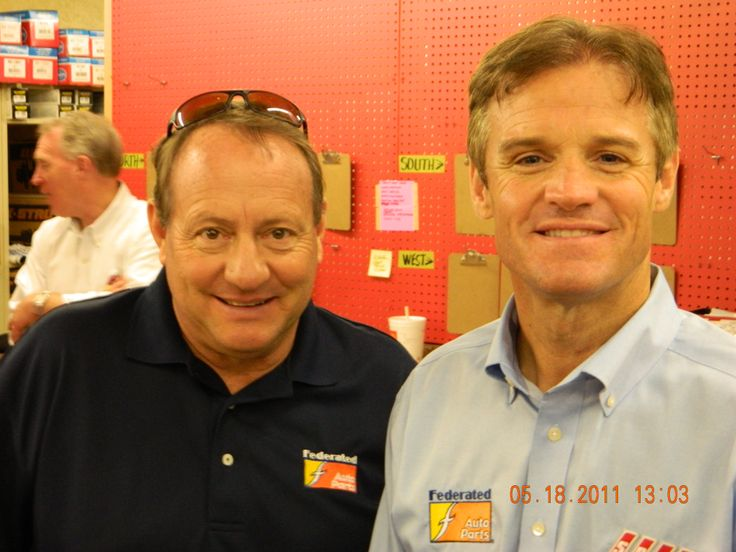 NASCAR Legends, Kenny Wallace and Ken Schrader at an autograph session in Pittsburgh, PA. in 2011