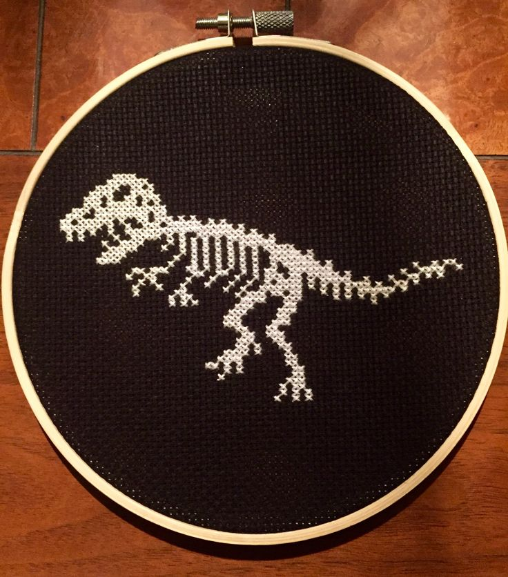 Dinosaur Bones Cross Stitch