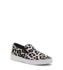 Keaton Cheetah Hair Calf Slip-On Sneaker