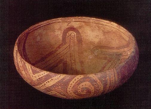 Copa con motivos geometricos - Cultura Guane