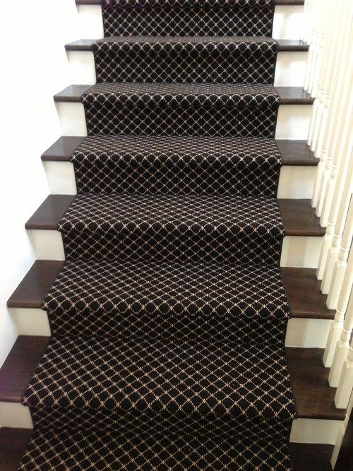Project Sneak Peeks - Stair runner in a coastal style home - Stark carpet