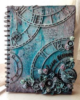 Lou Collins - Pretty Paper and Chipboard Stories: Altered Book Cover with Dusty Attic...