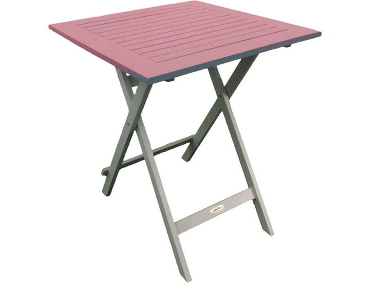 Cool table de jardin cm pliante trinidad coloris rose for Table qui se deplie