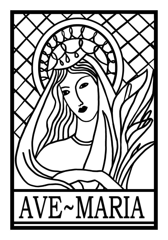 Ave Maria Coloring Page