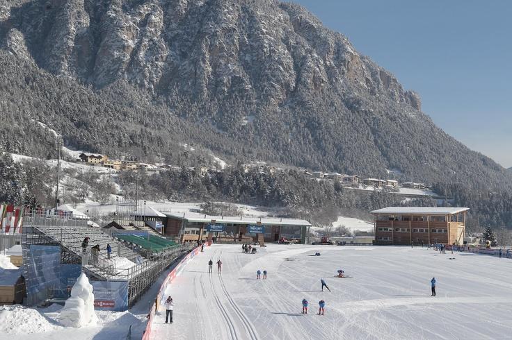 The finish area of the cross-country stadium of Lago di Tesero, Val di Fiemme. Photo: Federico Modica