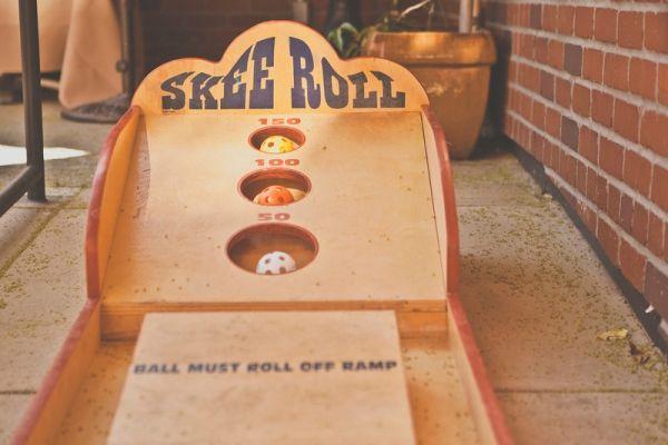 Wedding games! whoa whoa whoa... you can have skee ball as a
