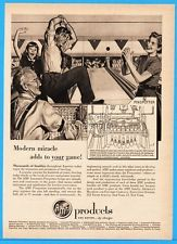 1952 AMF Pinspotter Bowling Alley US Modern Miracle Family Magazine Print Ad