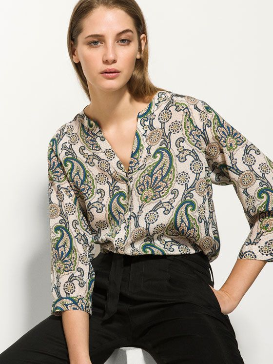 100% SILK PRINTED SHIRT