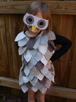Tegan would make a great owl...only she wants to be Tinkerbell again.