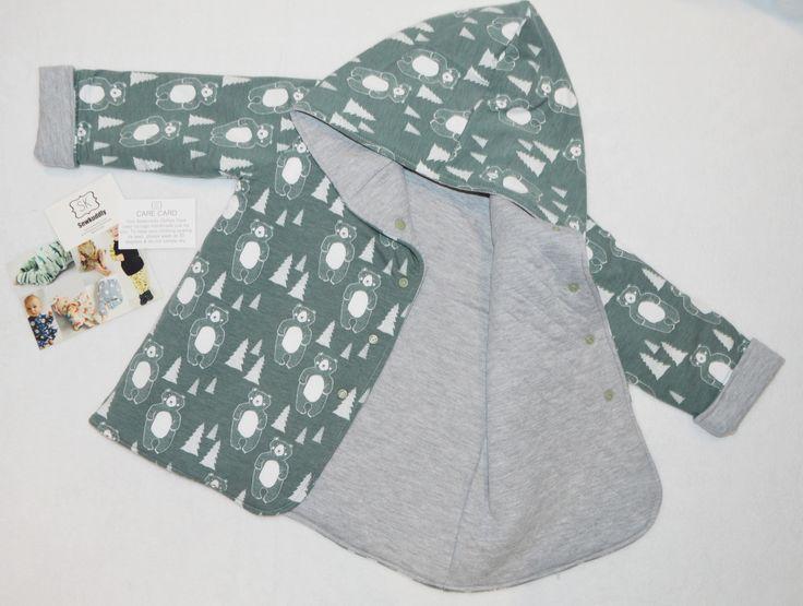 Green Beary Bear reversible coat