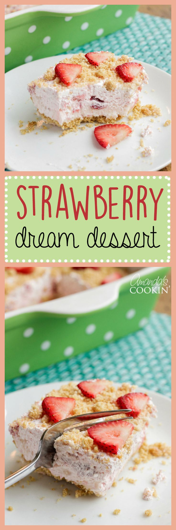 his strawberry dream dessert is just as amazing as its pineapple cousin and if you're a fan of desserts with strawberries like I am you'll definitely want to try it today!