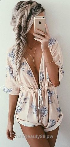 Incredible #summer #girly #outfits | Floral Playsuit  The post  #summer #girly #outfits | Floral Playsuit…  appeared first on  Beauty and Fashion .
